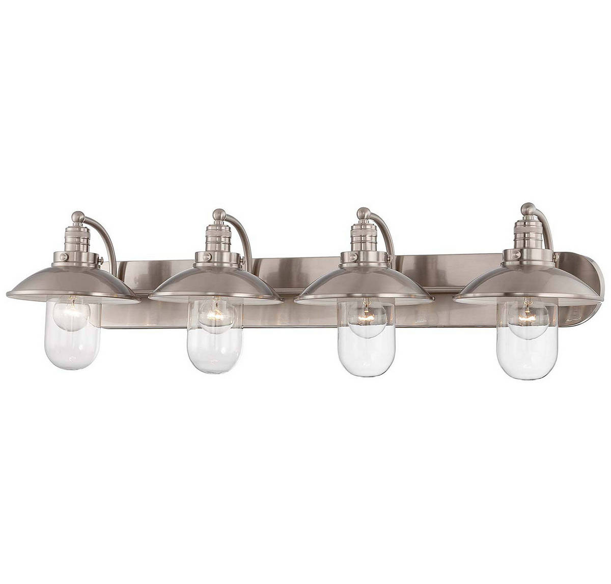 Minka lavery downtown edison 4 light bath vanity in brushed nickel minka lavery downtown edison 4 light bath vanity in brushed nickel bath lights wall lights arubaitofo Image collections