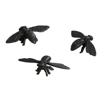"Cyan Design Bees 4.5"" Sculpture in Rustic Verde Bronze (Set of 3)"