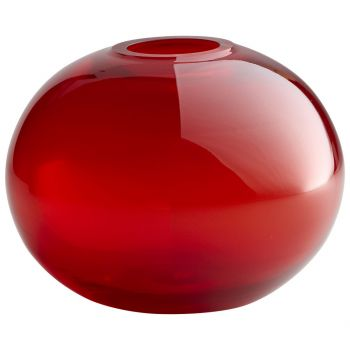 "Cyan Design Pod 8"" Glass Vase in Red"