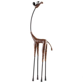 "Cyan Design Giraffe 22"" Sculpture in Hand Applied Multi-Color"