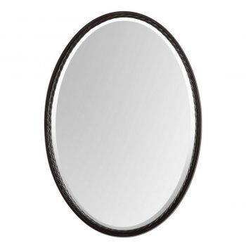 "Uttermost Casalina 32"" Oval Mirror in Oil Rubbed Bronze"