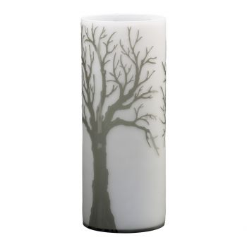 "Cyan Design Oak Alley 19.75"" Etched Glass Vase in Acid White/Smoke"