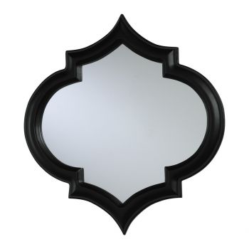 """Cyan Design Corinth 18"""" Mirror in Black With Red Accents"""