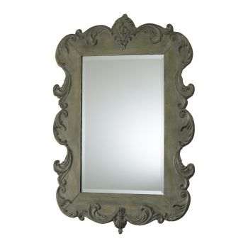 """Cyan Design Vintage 35"""" Beveled French Mirror in Oyster Silver"""
