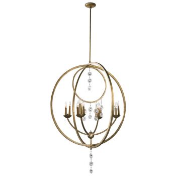 "Cyan Design Emilia 36"" 16-Light Chandelier in Silver Leaf"