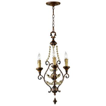 "Cyan Design Meriel 16"" 3-Light Chandelier in Antiqued Sienna"