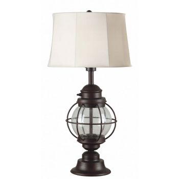 "Kenroy Home Hatteras 27.8"" Outdoor Table Lamp in Gilded Copper"