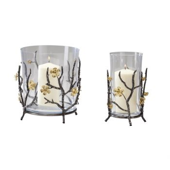 "Cyan Design Botanica 9"" Container in Raw Steel/Gold"