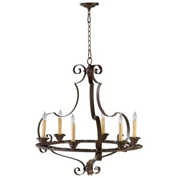 "Cyan Design Kensington 27"" 6-Light Chandelier in Gilded Bronze"