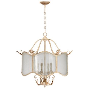 "Cyan Design Maison 28.5"" 4-Light Nook Chandelier in Persian White"