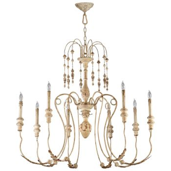 "Cyan Design Maison 41"" 8-Light Chandelier in Persian White"