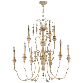 "Cyan Design Maison 40"" 9-Light Chandelier in Persian White"