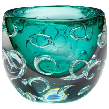 "Cyan Design Bristol 6.5"" Round Glass Vase in Green"