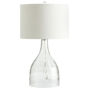 "Cyan Design Big Dipper 27.75"" White Linen Shade Table Lamp in Clear"