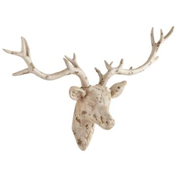 "Cyan Design Open Antler 33"" Wall Decor in Antique French White"