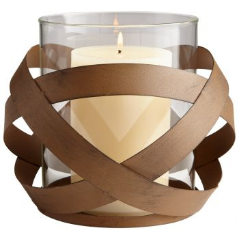 """Cyan Design Infinity 8.75"""" Candleholder in Copper"""