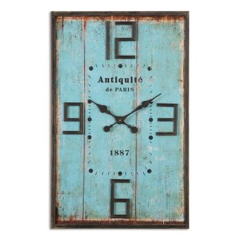 "Uttermost Antiquite 35.75"" Wall Clock in Aged Blue"