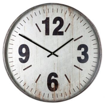"Uttermost Marino 30.25"" Wall Clock in Brushed Silver"