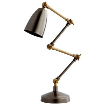"Cyan Design Angleton 23.75"" Desk Lamp in Bronze/Black"