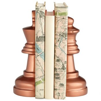 """Cyan Design Checkmate 8.75"""" Bookends in Antique Copper"""