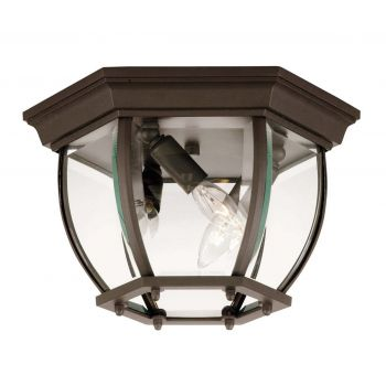 Savoy House Exterior Collections Flush Mount in Bronze