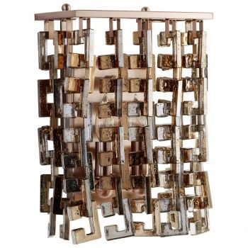"""Cyan Design Athropolis 12.25"""" 2-Light Wall Sconce in Satin Copper"""