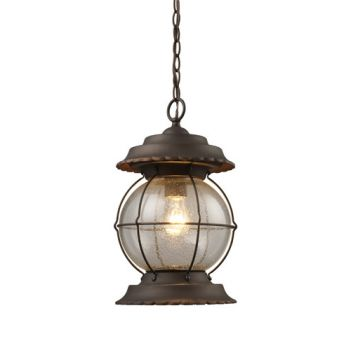 Elk Lighting Manchester 1-Light Lantern in Burnt Bronze