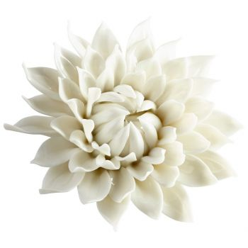 "Cyan Design Blossoming Spring 5.5"" Wall Decor in Off White Glaze"