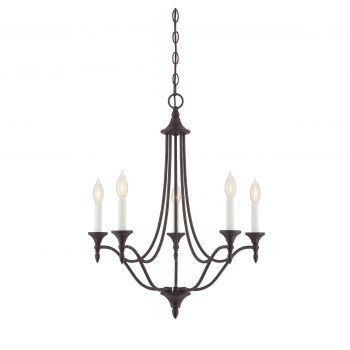Savoy House Herndon 5-Light Chandelier in English Bronze