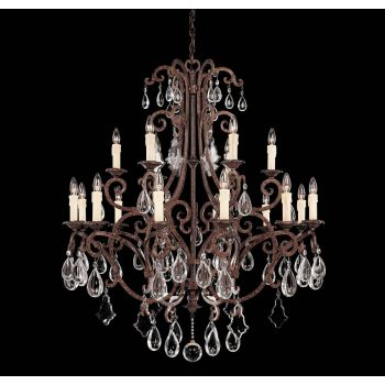Savoy House Florence 18-Light Chandelier in New Tortoise Shell