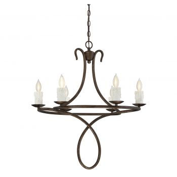 Savoy House Lynch 6-Light Chandelier in Guilded Bronze