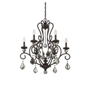 Savoy House Stratton 6-Light Chandelier in Statuary Bronze