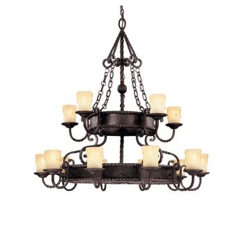 Savoy House San Gallo 15-Light Chandelier in Slate