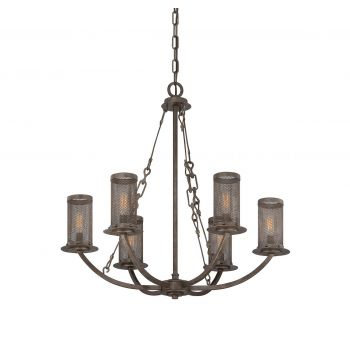 Savoy House Nouvel 6-Light Chandelier in Galaxy Bronze