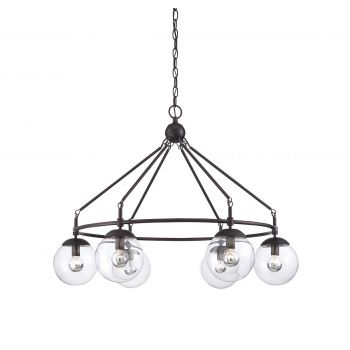 Savoy House Argo 5-Light Chandelier in English Bronze Finish