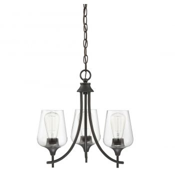 "Savoy House Octave 18"" 3-Light Chandelier in English Bronze"