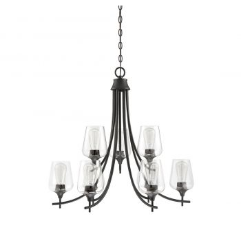 "Savoy House Octave 30"" 9-Light Chandelier in English Bronze"