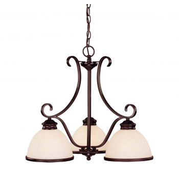 Savoy House Willoughby 3-Light Chandelier in English Bronze