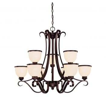 Savoy House Willoughby 9-Light Chandelier in English Bronze