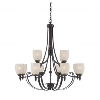 Savoy House Duvall 12-Light Chandelier in English Bronze