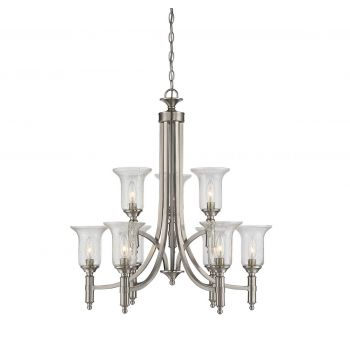 Savoy House Trudy 9-Light Chandelier in Satin Nickel