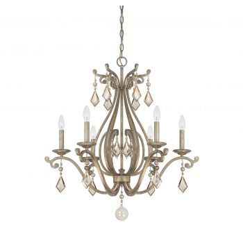 Savoy House Rothchild 6-Light Chandelier in Oxidized Silver
