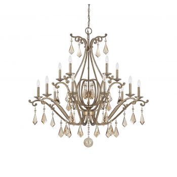 Savoy House Rothchild 15-Light Chandelier in Oxidized Silver