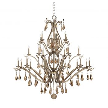 Savoy House Rothchild 24-Light Chandelier in Oxidized Silver