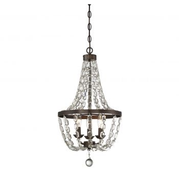 Savoy House 3-Light Mini Chandelier in Oiled Burnished Bronze