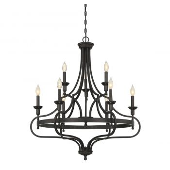 Savoy House Sheilds 9-Light Chandelier in English Bronze