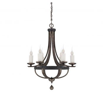 Savoy House Alsace 6-Light Chandelier in Reclaimed Wood