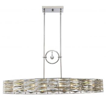 Savoy House Lancaster 6-Light Island Pendant in Polished Chrome