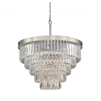 Savoy House Tierney 9-Light Chandelier in Polished Nickel