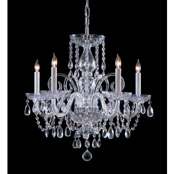 Crystorama Traditional Crystal 5-Light Hand Cut Crystal Chandelier